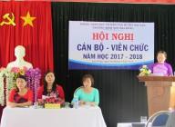 Hội nghị Cán bộ – Viên chức năm học 2017 – 2018