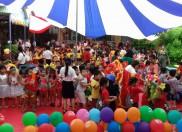 """Trường MN Đại Đồng giao lưu với Trường MN Bình Minh, quận Hải Châu, TP Đà Nẵng với chủ đề """" Vầng trăng yêu thương"""""""