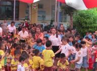 Trường MN Đại Đồng tổ chức giao lưu với Trường MN Bình Minh, Quận Hải, TP Đà Nẵng vơi chủ đề : Vầng trăng yêu thương