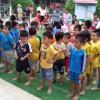 Trường Mầm non Đại Đồng tổ chức giải bóng đá mini cho các bé khối lớp 5 tuổi