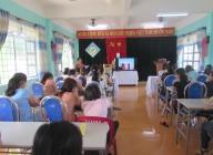 Trường Mầm non Đại Đồng tổ chức tập huấn, diễn tập công tác phòng cháy chữa cháy