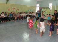 Trường Mầm non Đại Đồng tổ chức tập huấn công tác CSNDGD cho các nhóm trẻ tư thục