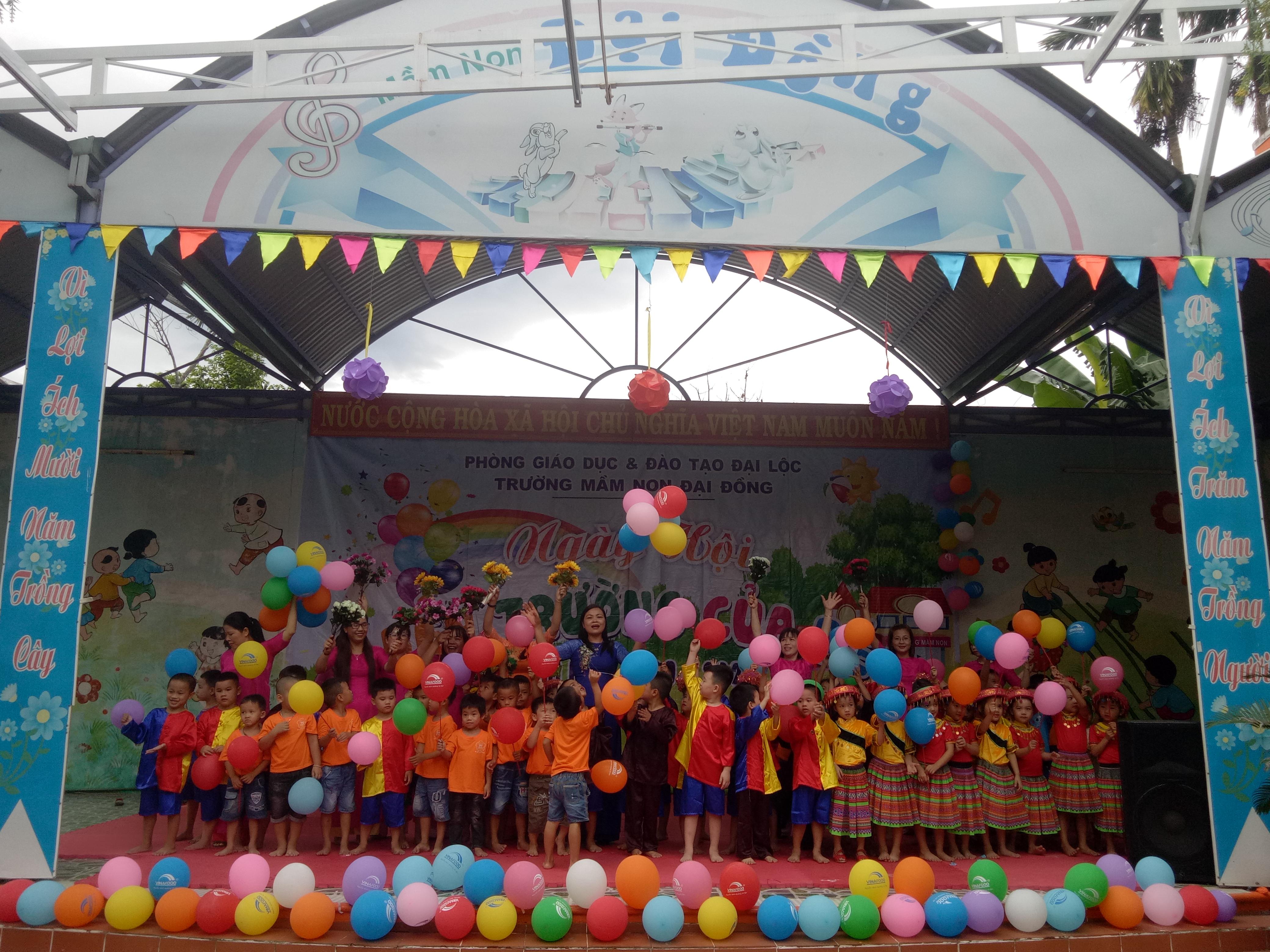 """Trường MN Đại Đồng tổ chức """" Ngày hội đến trường của bé"""" năm học 2019 – 2020"""